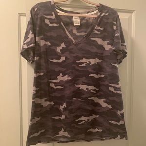 Victoria's Secret Pink Camo Tee Shirt XL